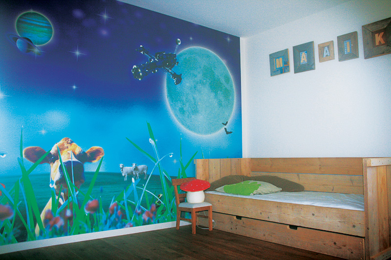 De schilders van warmenhuizen wandafwerking for Goedkoop glasvliesbehang